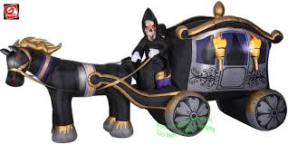 Airblown Inflatable Halloween Yard Decorations by Gemmy Airblown Inflatable Photorealistic Grim Reaper Carriage 13 U0027