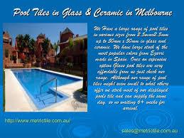 pool tiles in glass ceramic in melbourne
