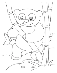 Bamboo Lover Panda Coloring Pages