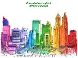 Cara Mewarnai Gedung2 Pencakar Langit Jakarta Buat Gradasi Warna Pelangi Mejikuhibiniu Memang Lumayan JakartaColoring BooksOwl