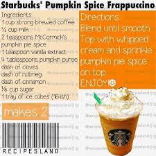 Pumpkin Spice Frappuccino Recipe Starbucks by The 25 Best Pumpkin Spice Frappuccino Ideas On Pinterest