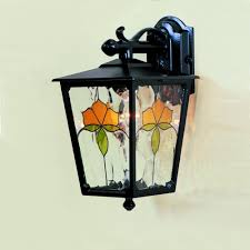regal wall outdoor wall light with deco glass