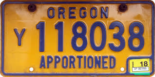 100 Truck License FileOregon 2018 Apportioned License Platejpg Wikimedia Commons