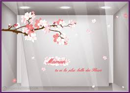 vitrine fete des meres fleuriste kit de stickers maman tu es la plus des fleurs