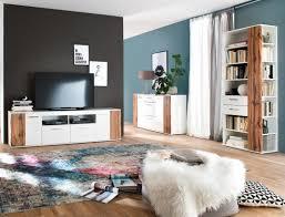wohnzimmer gerda 32 weiß hochglanz wotan eiche 3 teilig wohnzimmerset