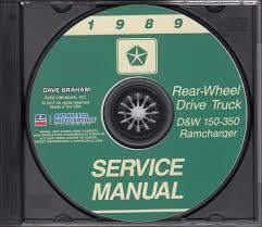 100 Used Service Trucks Details About 1989 Dodge Truck Shop Manual CD D150D350 Pickup Ramcharger W150W350