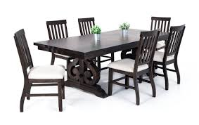 Sanctuary 7 Piece Dining Set With Slat Chairs | Bobs.com Art Fniture Inc Saint Germain 7piece Double Pedestal Ding Laurel Foundry Modern Farmhouse Isabell 7 Piece Solid Wood Maracay Set Rectangular Ding Table 6 Chairs Vendor 5349 Lawson 116cd7gts Trestle Gathering Table With Hampton Bay Covina Alinum Outdoor Setasj2523nr Torence 7piece Counter Height 7pc I Shop Now Mangohome Liberty Lucca Formal Two And Hanover Rectangular Tiletop Monaco Splat Back Chairs By Grayson Ash Gray Wicker Round