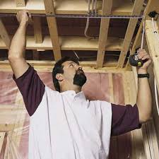 Hanging Drywall On Ceiling Trusses by Need Advice Fishing Through Trusses Doityourself Com