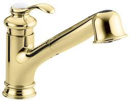 Polished Brass Bathroom Faucets Single Hole by Kohler K 12177 Pb Fairfax Single Control Kitchen Sink Faucet