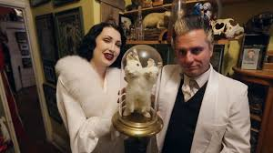 Kurios Cabinet Of Curiosities Edmonton by Doctor Mysterion And Steffi Kay Show Off His Cabinet Of