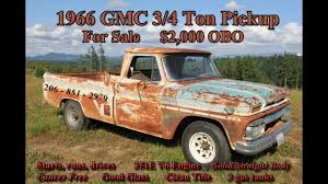 100 1966 Gmc Truck GMC 34 Ton Pickup YouTube