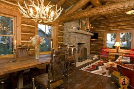 Log Cabin Makeovers Living Room Rustic With Arm Chair Nailhead Trim