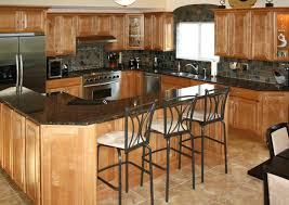 kitchen remarkable kitchen idea with black wooden back stools