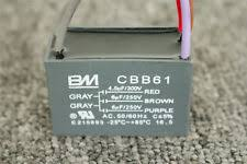 Cbb61 Ceiling Fan Capacitor 2 Wire by Cbb61 6uf 250v Ac 2 Wire Ceiling Fan Capacitor Ebay