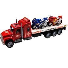 TukTek Kids First Semi Truck Toy Flatbed W/ 2 Motorcycles Street ... Amazoncom Peterbilt Truck With Flatbed Trailer And 2 Farm Tractors 116th Big Farm John Deere Ram 3500 Dually Skidloader 5th Red Race Car Hot Wheels Crashin Big Rig Blue Shop Express 1100 Germany 1957 Hmkt Antique Cast Iron Toy Flatbed Truck 116 Model 367 Farmall Wood Toy Plans Semi Youtube Ertl New Holland T7030 Tractor Lego City 60017 Walmartcom Antique Vintage Dinky Toys Supertoys Foden Chains Intertional Durastar 4400 Flat Bed Tow