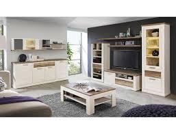 wohnzimmer durio 32 pinie weiß 8 teilig wohnwand couchtisch sideboard expendio