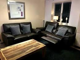 wohnzimmer braun leder sitzgarnitur sofa wie neu elektrisch