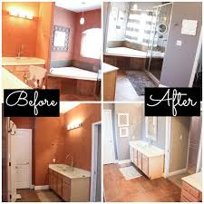 Master Bathroom Makeover Decorating Ideas Before After