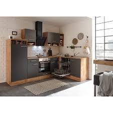 respekta winkelküche bekbl280egc 280 x 172 cm grau wildeiche nachbildung