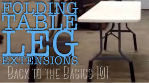 Folding Table Leg Extensions Awesome