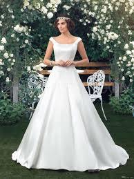 Discount Nwd23 2017 Fashionable Bride Simple Satin Wedding Dress