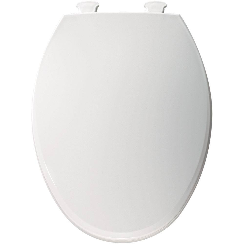 Bemis Lift-off Plastic Elongated Toilet Seat - White