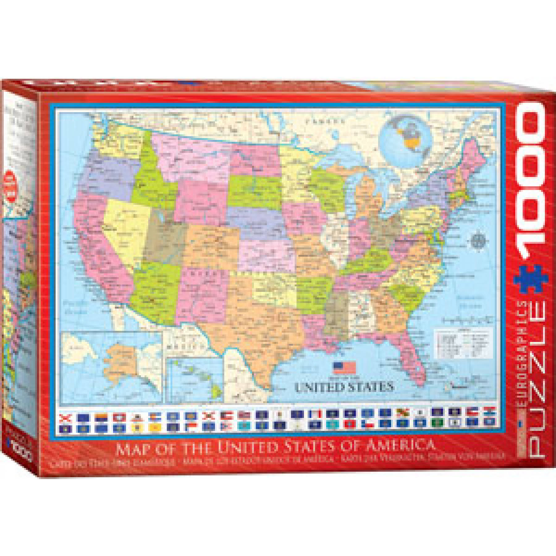 EuroGraphics Map of The United States Puzzle - 1000 Piece