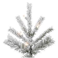 75 Slim Flocked Christmas Tree by 4 5 Ft Flocked Slim Sierra Artificial Christmas Tree With Warm