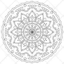 Printable Mandala Coloring Page For Adults N3