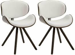 2x stuhl ortega kaffee weiß esszimmerstuhl lehnstuhl design holz