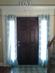 Front Door Sidelight Curtain Rods by Front Doors Amazing Front Door Sidelight Curtain Design Front