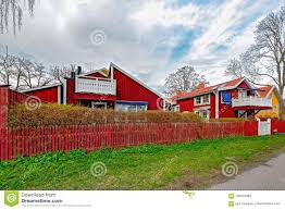 100 Ochre Home Red Painted Colour Wooden Houses Stock Image Image