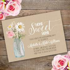 Printable Floral Housewarming Invitation Template Invite Your Guests To Party With Our