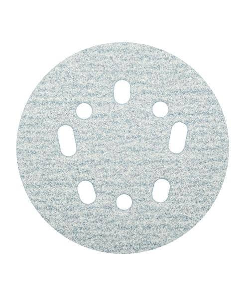 Norton ProSand 5 in. Ceramic Alumina Hook and Loop 5 and 8 Hole UVH Sanding Disc 120 Grit Medi