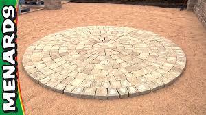 circular patio kit how to menards youtube