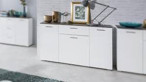 kommode magic sideboard anrichte in weiß hochglanz beton