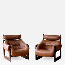 percival lafer rare matched pair of percival lafer lounge chairs