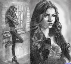 Drawing A Woman Katherine Pierce The Vampire Diaries Added By