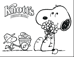 Snoopy Woodstock Christmas Coloring Pages Printable To Print Magnificent Charlie Brown Free Full Size