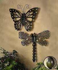 Butterfly Outdoor Wall Decor Solar Wood Target