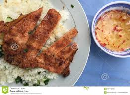 100 Cuisine Steam Rice With Grilled Pork Vietnam Stock Image