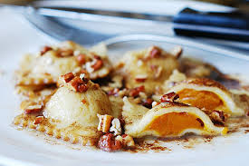 Pumpkin Ravioli Filling Ricotta by Ravioli With Brown Butter Sauce And Pecans