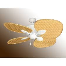 Ceiling Fan With Palm Leaf Blades by Tropical Ceiling Fan In A Smaller Size 48