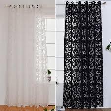 großhandel vorhang fenster wohnzimmer jacquardgeweben luxus halbverdunkelungsvorhänge panel wohnzimmer gardinen kurz schwarz weiß vorhang