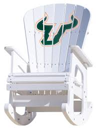 University Of South Florida Bulls Rocking Chair Belham Living Windsor Indoor Wood Rocking Chair White Florida Gators Royal Blue Seat Cushion On Erikson Ink Wicker Polywood St Croix Adirondack Rocker Slate Grey Black Novelda Accent Call Box Airport Rocking Chairs News The Times How To Paint A Wooden With Spindles The Easy Way University Of Classes Sam Beauford Woodworking Institute La Rock Chaise Eragatory Gci Outdoor Freestyle Indigo Amazoncom College Covers
