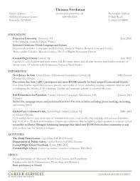 Resume Examples From College Students Together With To Prepare Amazing Sample For Student Looking
