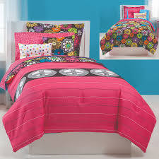 Girls Peace sign bedding set by Jackie McFee bed in a bag sets