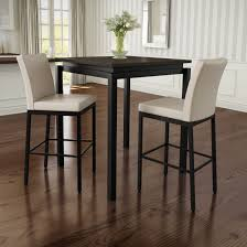Amisco Perry Metal Counter Stools And Cameron Table, Pub Set In Dark Brown  Metal