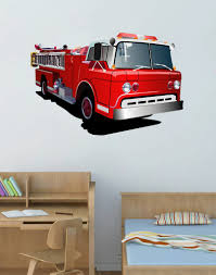 100 Fire Truck Wall Decals Cik74 Full Color Decal Transport Bedroom Childrens