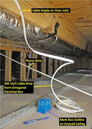 Hanging Drywall On Ceiling Joists by How To Install A Hardwired Smoke Alarm Ceiling Wiring
